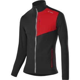 Löffler Thermo Velours Light Veste Zip Homme, black/red
